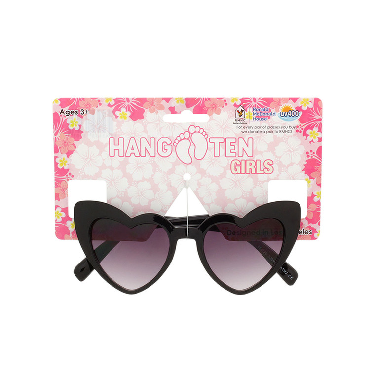Hang Ten Kids Heart Shape Sunglasses with Hang Card