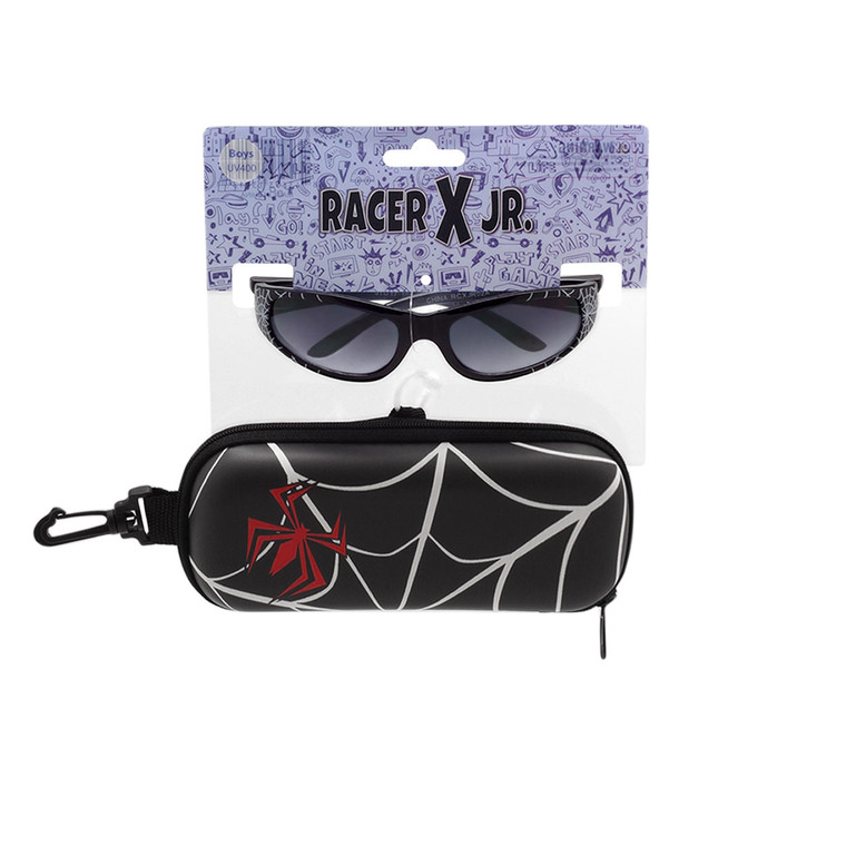 Racer X Jr. Spider Web Sunglasses + Case Set