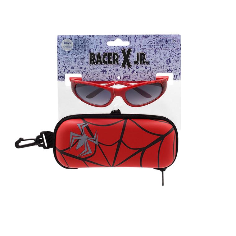 Racer X Jr. Spider Web Red Sunglasses + Case Set