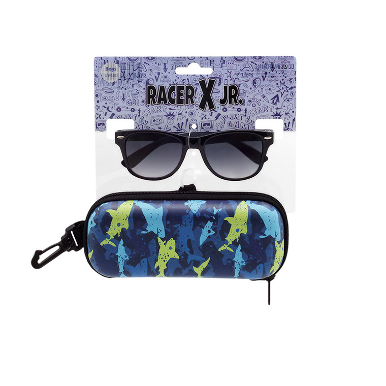 Racer X Jr. Shark Sunglasses + Case Set