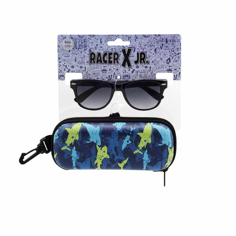 Racer X Jr. Shark Sunglasses + Case Set