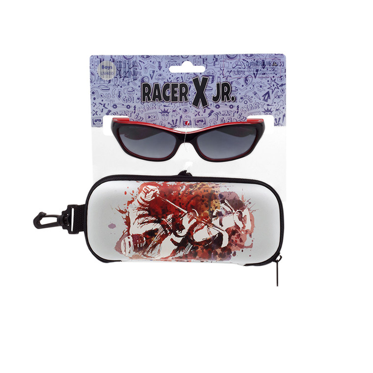 Racer X Jr. Hockey Sunglasses + Case Set
