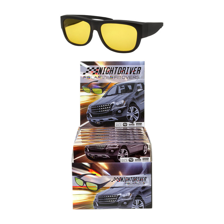 Polarized Night Driver Fitover Glasses + Display