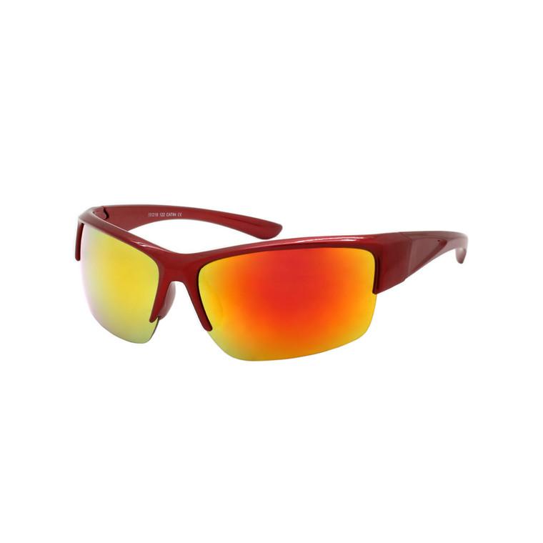 Men's Semi-Rimless Sport Sunglasses