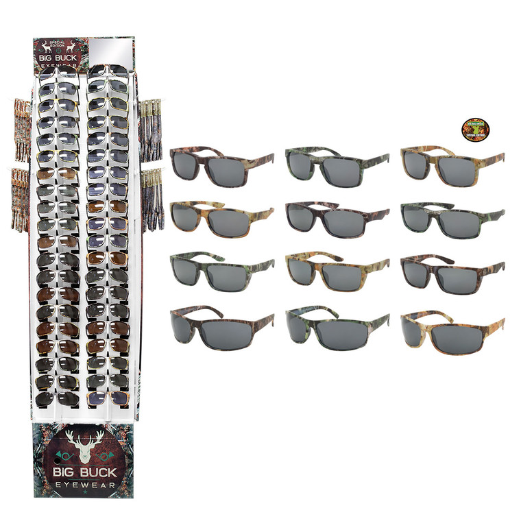 Camo Big Buck 40 PCS Display + Sunglasses