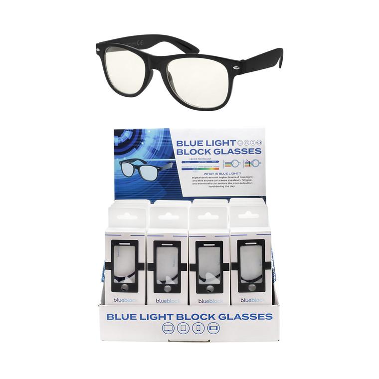 Wholesale Black Acrylic Blue Block Readers Cardboard Counter Display 24 Pieces | ABL24
