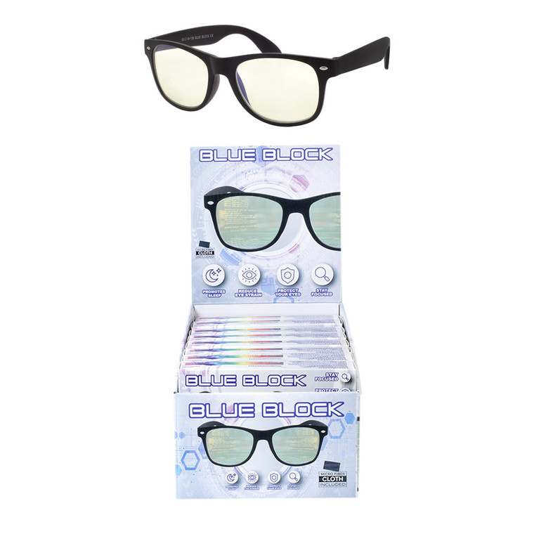 Blue Light Block Glasses + Display
