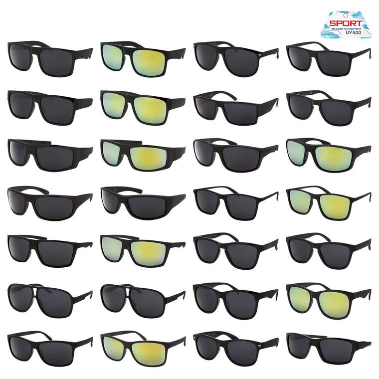 Wholesale Assorted Colors Polycarbonate Sport Sunglasses 36 Pieces | TSPORT1