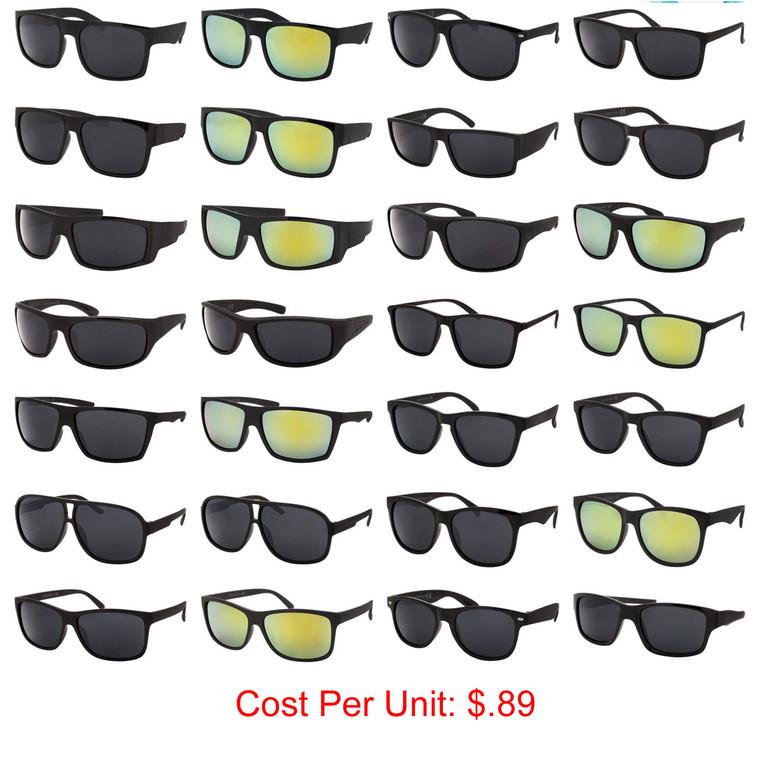 Wholesale Assorted Colors Polycarbonate Bulk Deal Sport Sunglasses 36 Pieces | TSPORT1-1