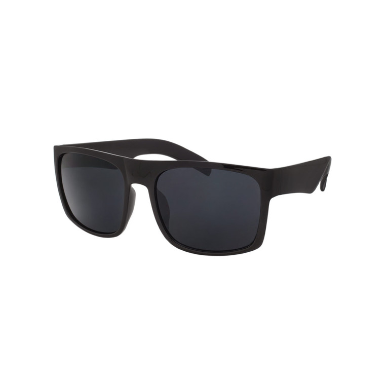 Wholesale Assorted Smoke Polycarbonate UV400 Square Sunglasses Men | 1 Dozen with Tags | LF01SD
