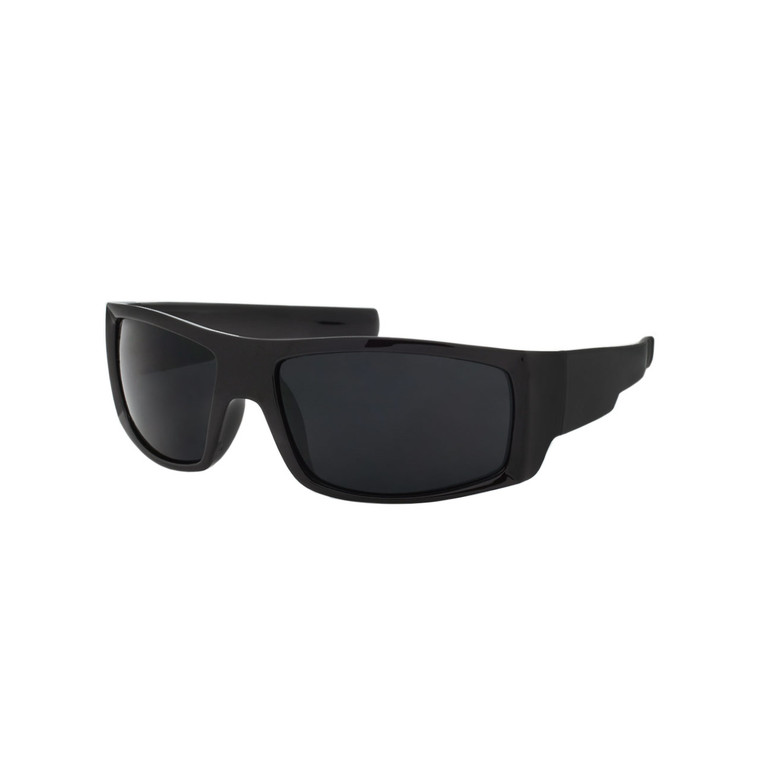 Wholesale Black Color Polycarbonate UV400 Square Sunglasses Men | 1 Dozen with Tags | SP02SD