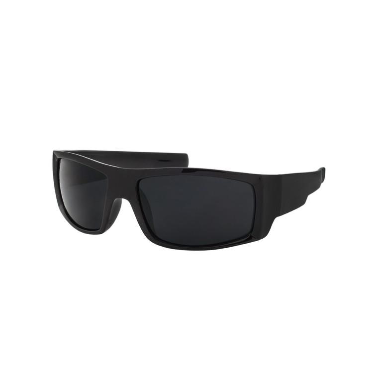 Wholesale Black Color Polycarbonate UV400 Square Sunglasses Men | 1 Dozen with Tags | SP02SD