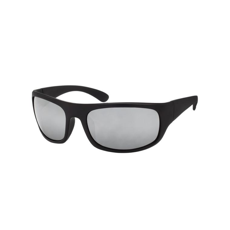 Wholesale Black Polycarbonate UV400 Square Wrap Sunglasses Men | 1 Dozen with Tags | SP06RV