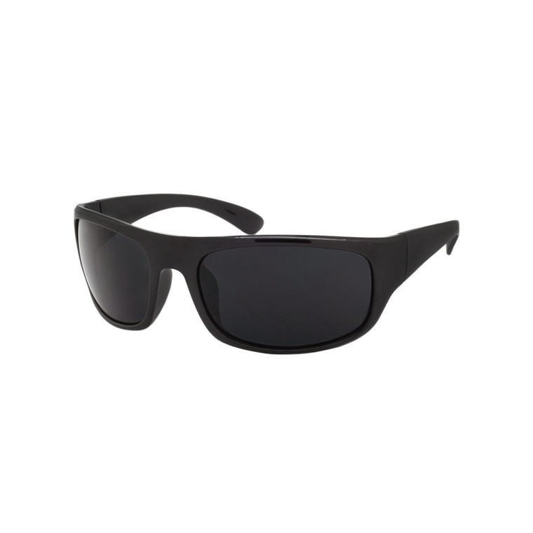 Wholesale Assorted Smoke Polycarbonate UV400 Sport Sunglasses Men | 1 Dozen with Tags | SP06SD