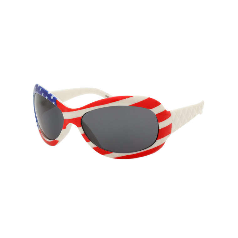 Wholesale Assorted American Flag Round Polycarbonate Sunglasses Unisex | 1 Dozen with Tags | 33-110