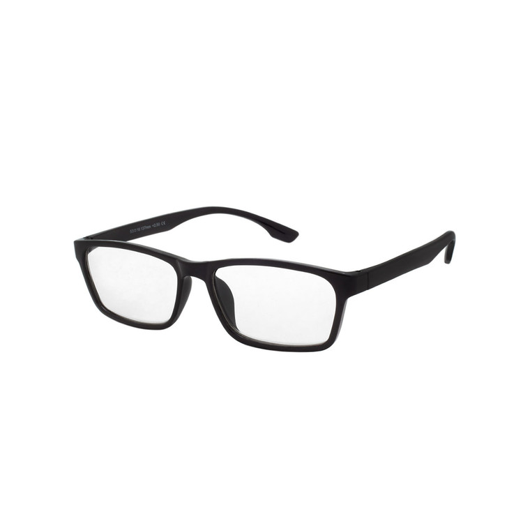 Wholesale Single Power Black Acrylic Square Readers Unisex | 1 Dozen with Tags | WHR01