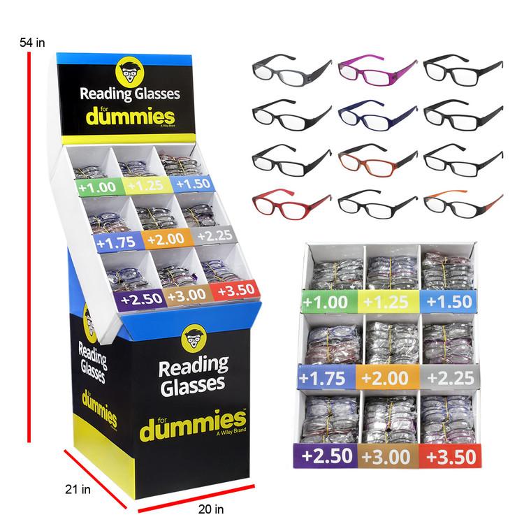 Wholesale Assorted For Dummies Branded Color Readers Floor Display Program 360 Pieces | DUMU360DP