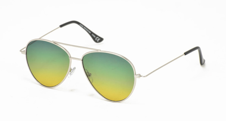 Wholesale UV400 Assorted Color Unisex Fashion Aviator Sunglasses | 3977COL