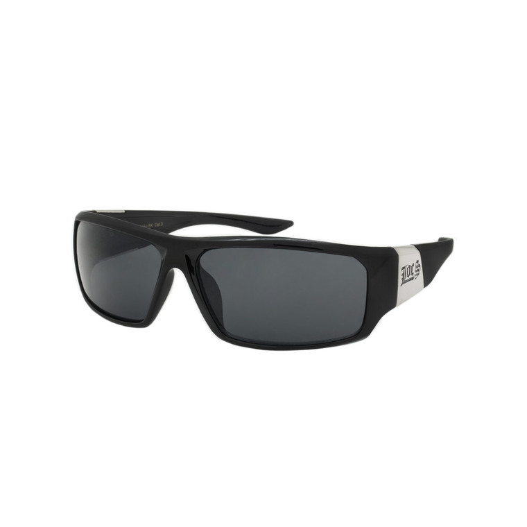 Wholesale Black Polycarbonate UV400 Sport Sunglasses Men | 1 Dozen with Tags | 8LOC91058-BK