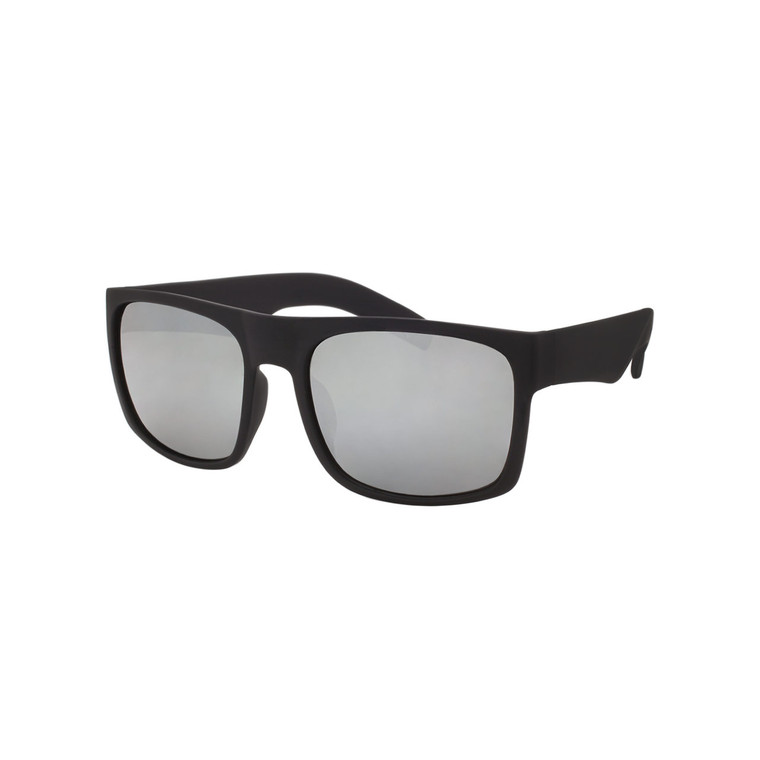 Wholesale Assorted Colors Polycarbonate Soft Finish UV400 Square Sunglasses Men | 1 Dozen with Tags | LF01STRVPOL