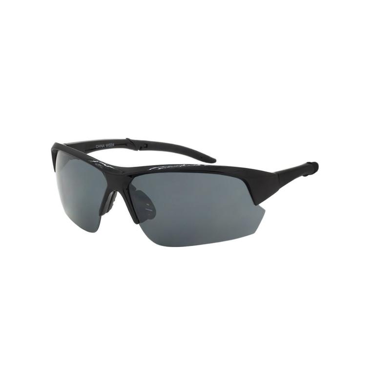 Wholesale Assorted Color Polycarbonate UV400 Semi-Rimless Sport Sunglasses Men | 1 Dozen with Tags | MIS04