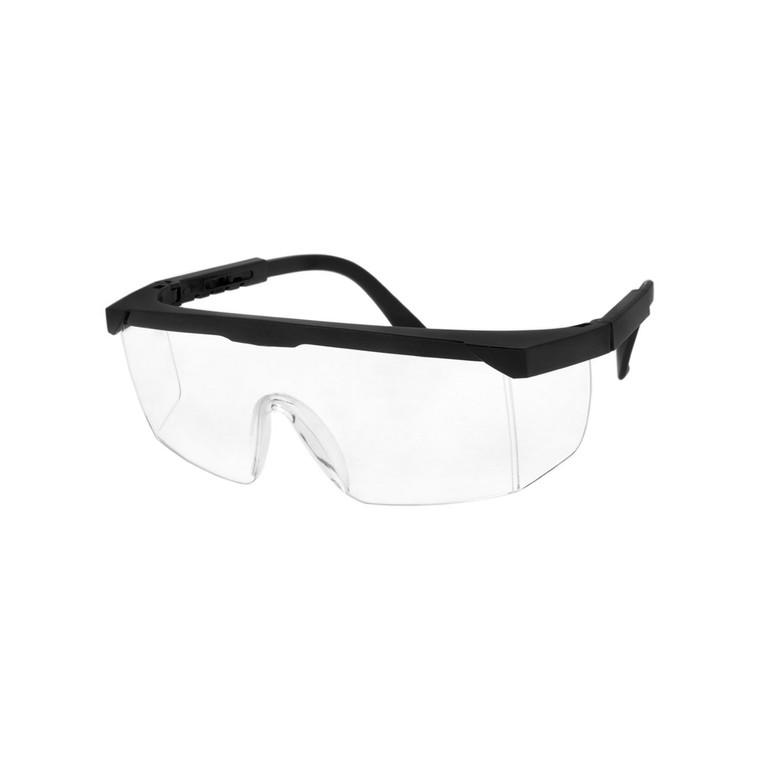 Wholesale Black Clear Lens Polycarbonate Safety Glasses Unisex | 1 Dozen with Tags | SAFESG01