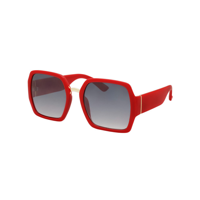 Wholesale Assorted Colors Polycarbonate UV400 Square Fashion Sunglasses Women | 1 Dozen with Tags | DS242