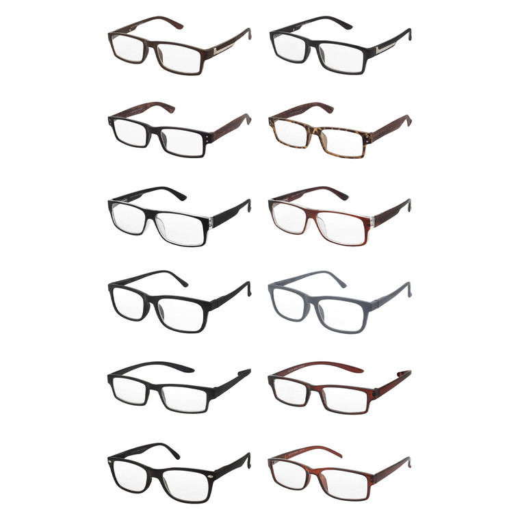 Wholesale Assorted Colors Acrylic Metal Assorted Style Single Power Readers Unisex| M6ASST