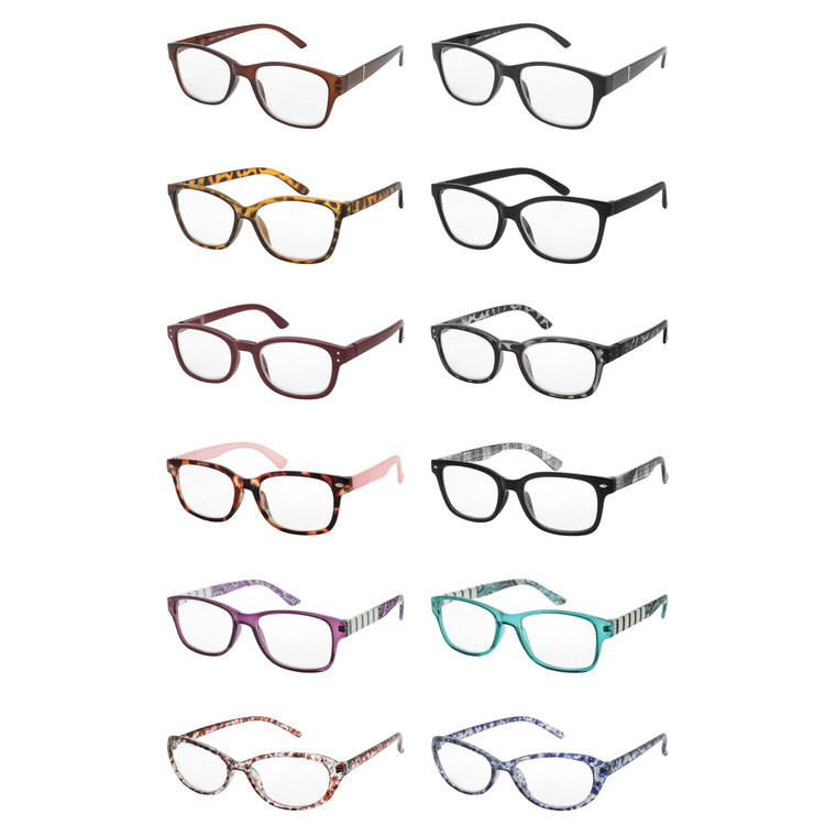 Wholesale Assorted Colors Acrylic Metal Assorted Style Single Power Readers Unisex| L6ASST