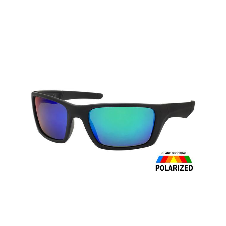Wholesale Assorted Colors Polycarbonate Polarized Sport Sunglasses Men | 1 Dozen with Tags | TPOL4CM