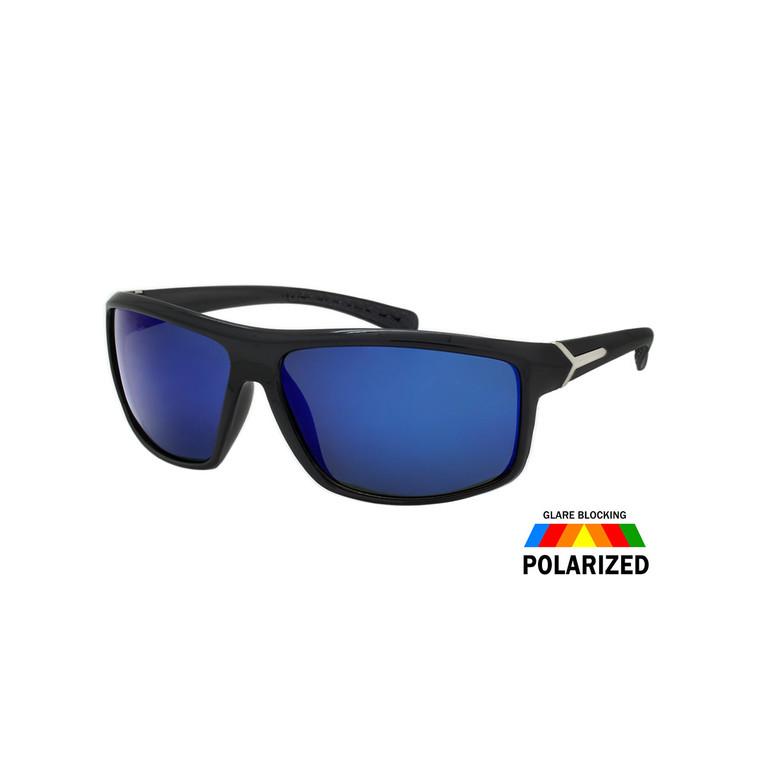 Wholesale Assorted Colors Polycarbonate Polarized Sport Sunglasses Men | 1 Dozen with Tags | TPOLM03RV