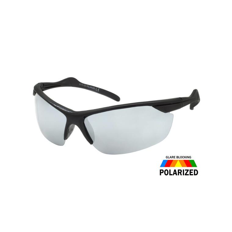 Wholesale Assorted Colors Polycarbonate Polarized Semi-Rimless Sport Sunglasses Men Bulk   1 Dozen with Tags  TPOL5CM