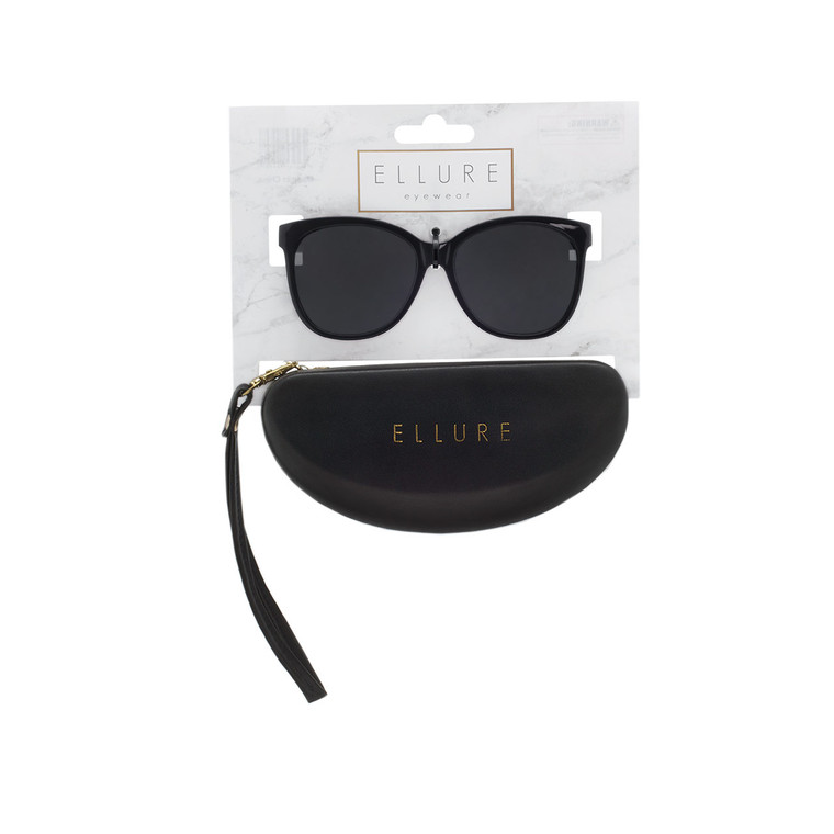 Wholesale Polycarbonate UV400 Women Round Fashion Sunglasses with Case | 4 Pieces per Inner | ELC03A