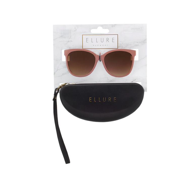 Wholesale Polycarbonate UV400 Women Round Fashion Sunglasses with Case | 4 Pieces per Inner | ELC03C