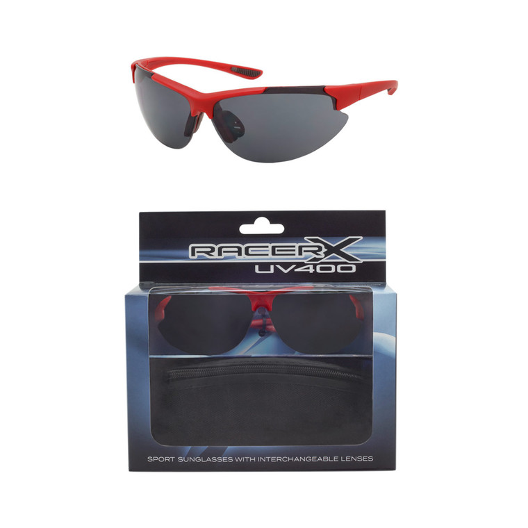 Wholesale Polycarbonate UV400 Mens Sport Sunglasses with Case | 20 Pieces per Case| RCXBX02C