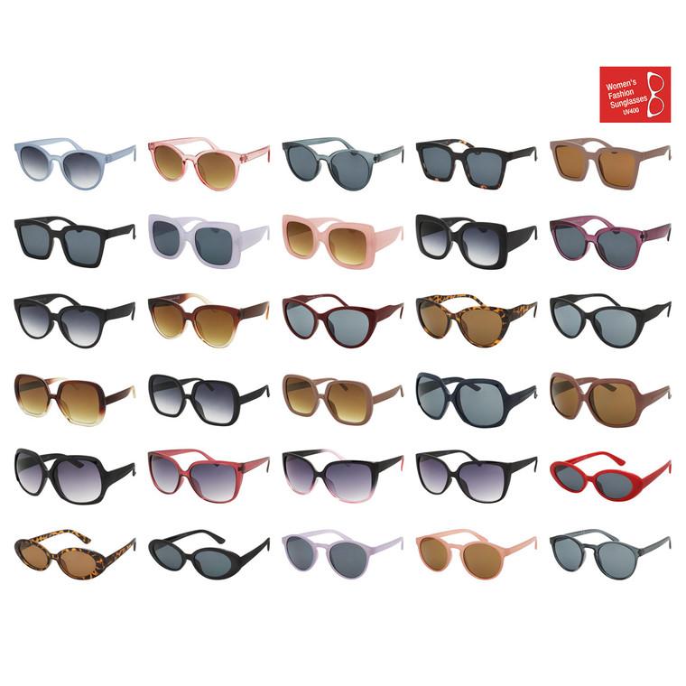 Wholesale Assorted Colors Polycarbonate UV400 Cat Eye Round Square Fashion Sunglasses Women | MFASH2