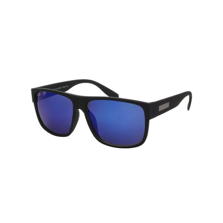 Wholesale Assorted Color Black Plastic Soft Feel UV400 Classic Square Sunglasses Mens Bulk   1 Dozen with Tags   WCL27ST