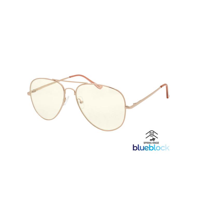 Wholesale Assorted Colors Metal UV400 Blue Light Block Aviator Fashion Sunglasses Women | DS275BL