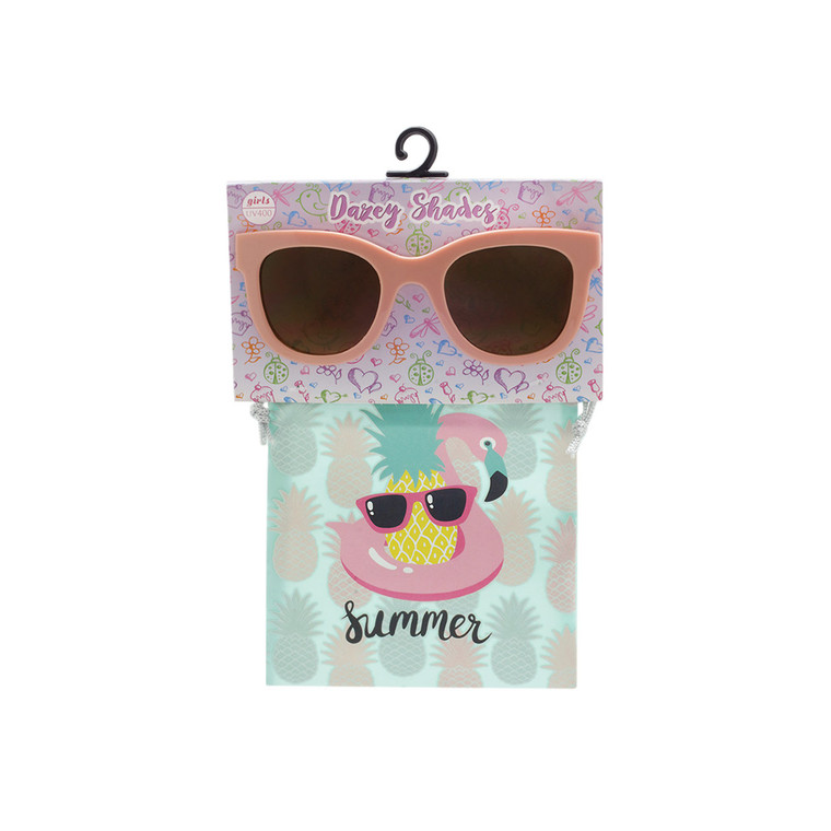 Wholesale Black Polycarbonate UV400 Tween Cat Eye Fashion Sunglasses with Accessory Bag | KBG04B