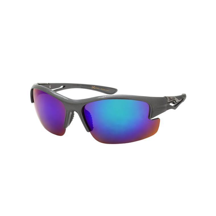 Wholesale Assorted Colors Polycarbonate XLoop UV400  Sport Sunglasses Men Bulk | 1 Dozen with Tags | 8X2475
