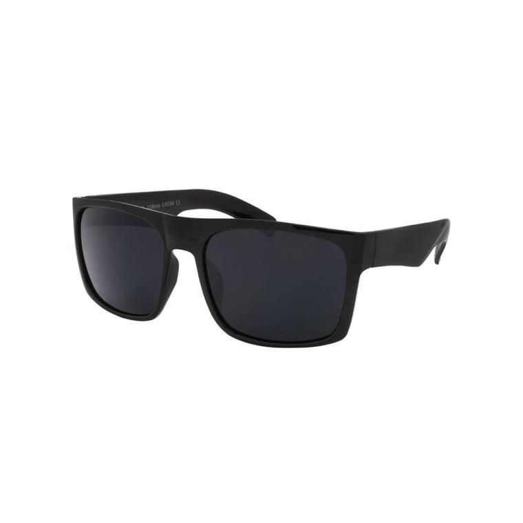 Wholesale Black Polycarbonate UV400 Wrap Sunglasses Men   1 Dozen with Tags   CH08SD