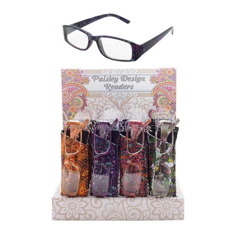 Ladies Paisley Pattern Readers + Counter Display