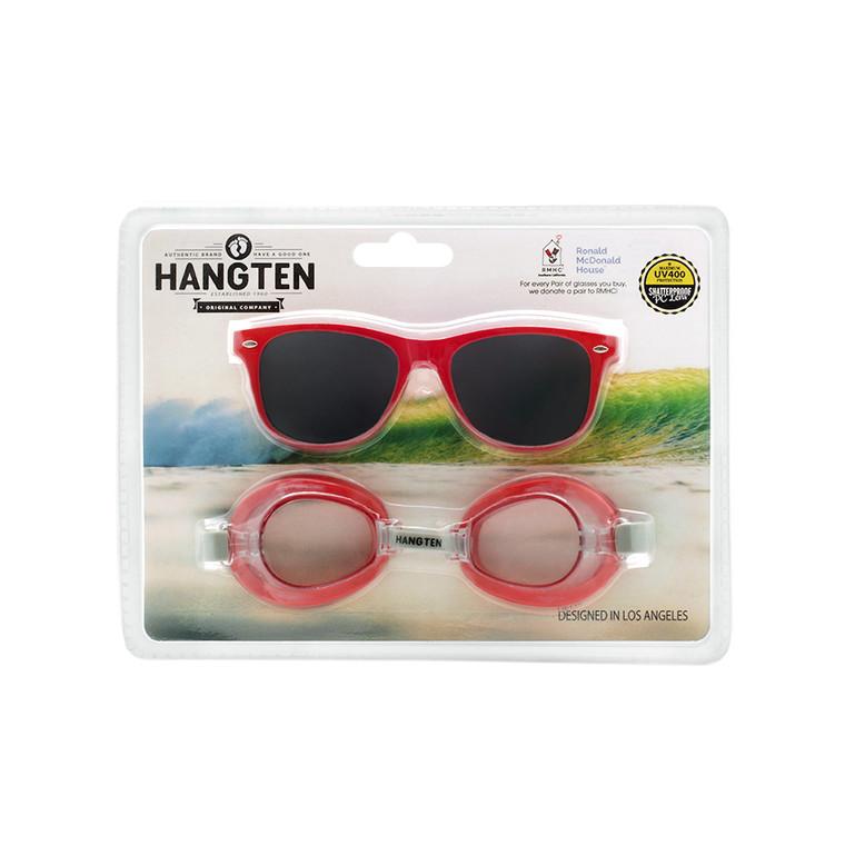 Wholesale Polycarbonate Hang Ten Kids Sunglasses Swim Goggles    1 Dozen with Tags   HSG01B