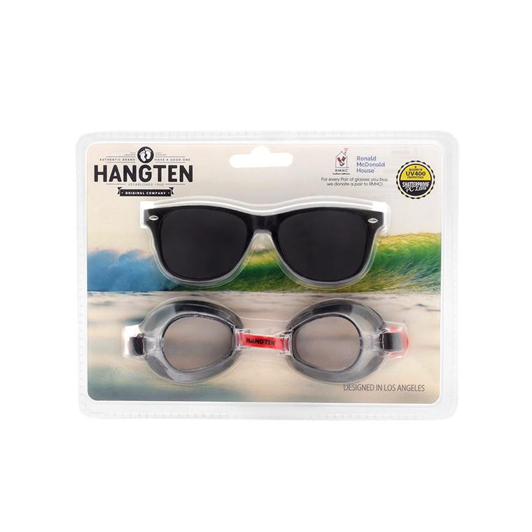 Wholesale Polycarbonate Hang Ten Kids Sunglasses Swim Goggles  | 1 Dozen with Tags | HSG01C