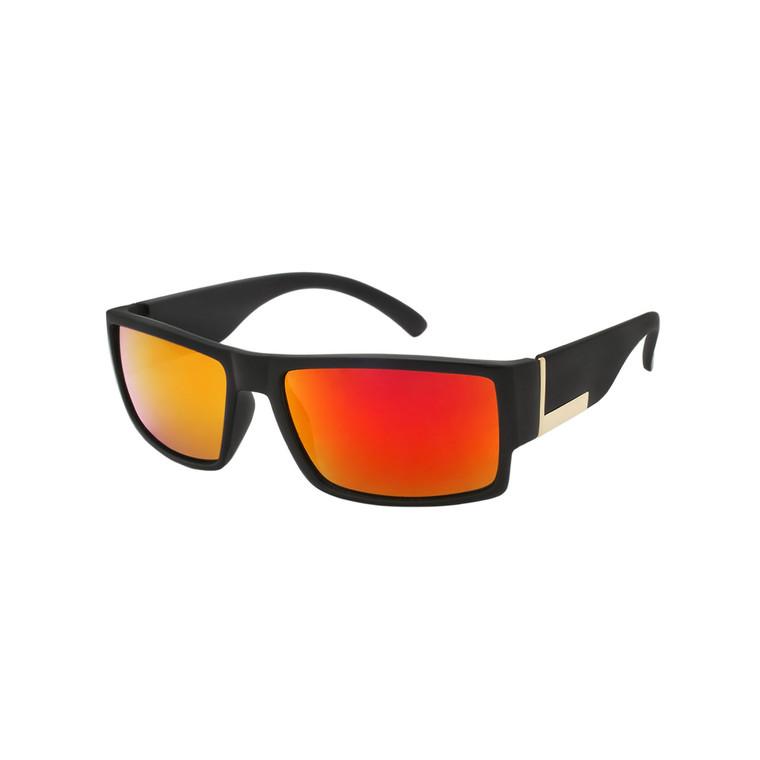 Wholesale Polycarbonate UV400 Square Color Mirror Sport Sunglasses Men | CH23POLCM
