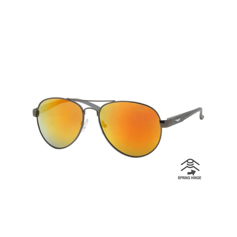 Men's Aluminum Aviator Spring Hinge Sunglasses RAM02 A