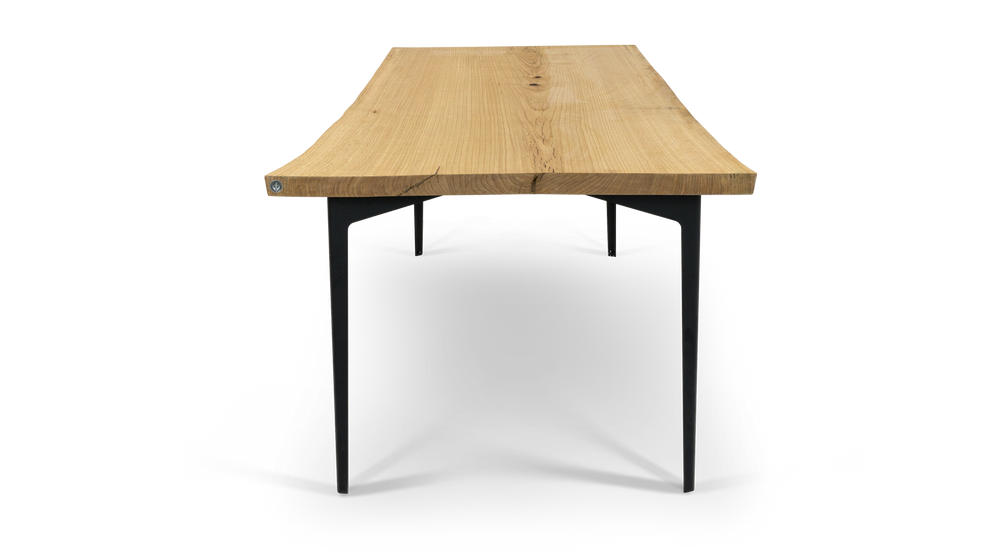 """134 84"""" Solid Oak Dining Table"""