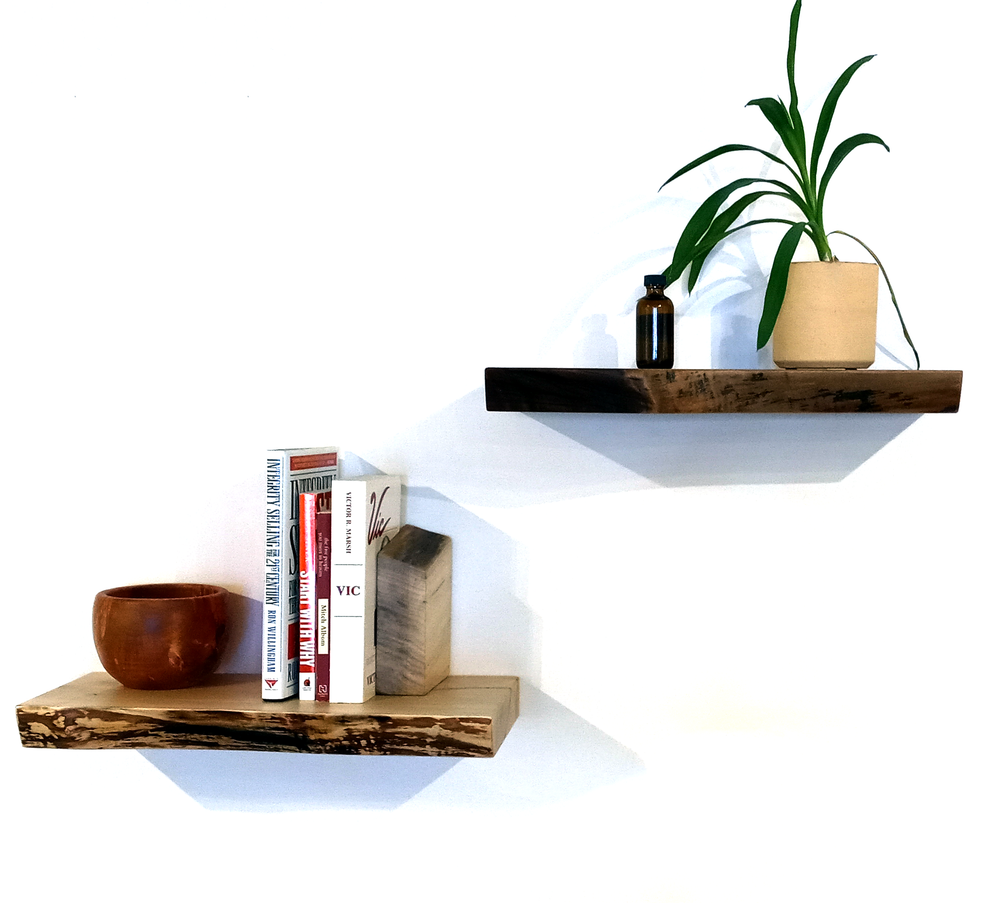 Straight Edge Floating Shelves by Edgewise