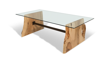 """190 84"""" Dining Table with Maple Base"""