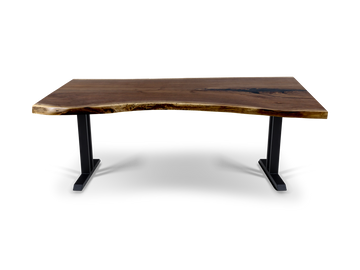 296 Live Edge Walnut Dining Table